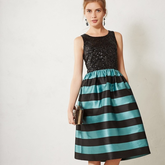 1bdeeca5f9b3 NWT Leifnotes Anthro Starlit Striped Dress